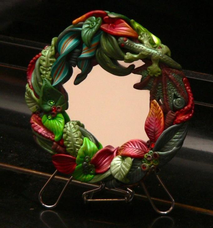 Můj originální design zrcátka inspirovaný tropickou džunglí